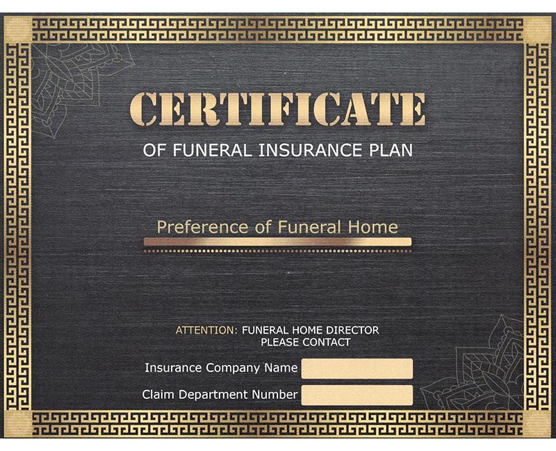 Funeral Certificate 2020 Banner